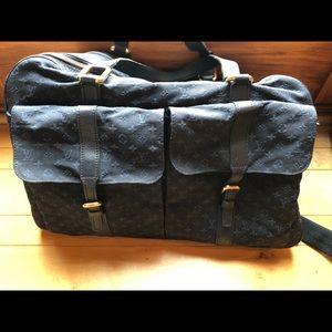 Auth Louis Vuitton monogram Claudine travel bag